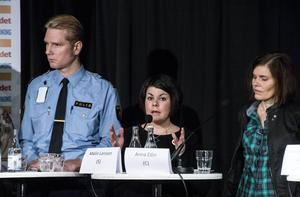 Polisen Josef Wiklund, socialdemokraternas Maria Larsson och centerpartiets Anna Edin var några av dem som diskuterade missbruksfrågor.