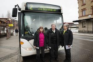 2015 24 November. Gun Olsson, Anette Forslund och Elin Söderberg jobbar som busschaufförer i Sundsvall.