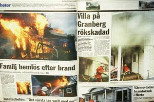 I tidningen fyllde bränderna över fyra sidor.