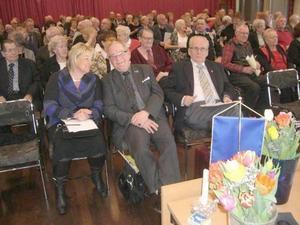Med på mötet var från vänster landshövding Britt Bohlin, Östersund, distriktsordförande Everth Lundin, Sollefteå och kassören Björn Rydstedt, Sundsvall.