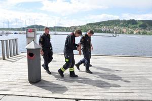 Polisen och räddningstjänst filmade under själva övningen.