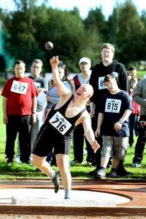 Alexandet Vagerstam gjorde en strålande insats. Han stötte hela 7,85 och var mycket nöjd med resultatet.
