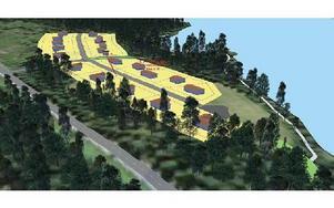 Så här skulle kommunens nya småhusområde, Bysjöstrand, intill Bysjön i Grangärde bli.SKISS: LUDVIKA KOMMUN