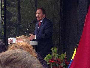 Stefan Löfven utlovar en utbyggnad av dubbelspår mellan Gävle-Sundsvall om han vinner valet.