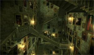 """""""Jag bad att få se på ritningen till det magiska trapphuset men det fanns ingen"""" berättar Kelvin Trite, som har arbetat med att skapa en digital kopia av Hogwarts."""
