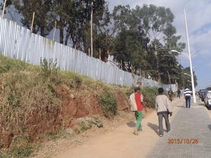 Inhängnaden runt den etiopiska domstolen, High Court i Addis Abeba. Arkivbild.