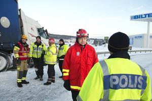 Medelpads räddningsförbunds nye chef Per Silverliden praktiserade på fältet under tisdagen och mötte tidigare arbetskamrater.