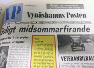 Färggrann! När Armas Morby hade köpt NP var tidningen inte längre helt svart-vit.