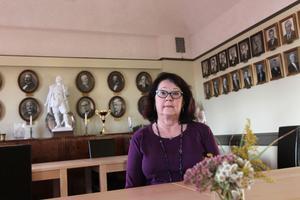 ChrisTina Albinsson blir den första kvinnliga övermästaren i Odd Fellow i Hedemora, som nästa år firar 100 år.