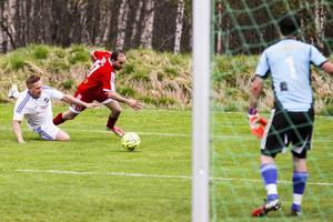 Bild från senaste derbyt som slutade 1-1 i Lillhärdal