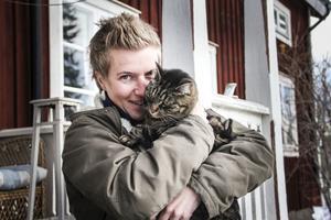 Anja och hennes ständiga följeslagare Svea.
