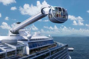 En London Eye-liknande kapsel där passagerarna kan spana ut över vattnet - det hör till en av årets kryssningsnyheter.