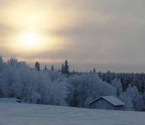 Snön lyser vit på taken......Foto: Anette Mårtensson