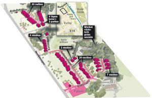 Klicka för större bild. Här planeras nya bostäder vid golfbanan. GRAFIK: DANIEL GUERRA