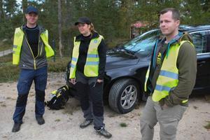 Björn och Elin Lemon och Christoffer Fransson var med och letade efter försvunne Leo.