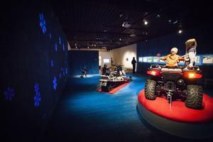 Den moderna renskötseln har en egen del i utställningen Rajden går.
