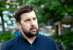 Jesper Liveröd på Greenpeace vill göra västeråsarna uppmärksamma på Vattenfalls kolgruvsplaner i Tyskland.
