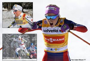 Charlotte Kalla ligger fyra i touren men kommer att få svårt att klättra ikapp Ingvild Flugstad Östberg och favoriten Therese Johaug. Det är också oklart om Emil Jönsson fortsätter.