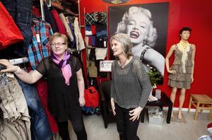Britt-Inger Halvarsson och Maggan Strandberg äger och driver tillsammans klädbutiken Du & Jag i Ockelbo.