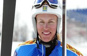 Kajsa Kling, Åre, tog sitt fjärde SM-guld i karriären i gårdagens storslalom. Arkivbild: Helena Modigh