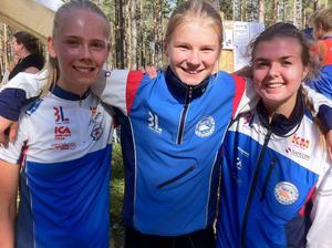 Hanna Kjellin, Ronja Hugg och Emelie Jonasson.