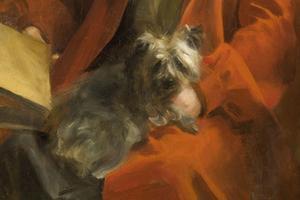"""Detalj ur """"Emma och Mouche"""", 1906, Anders Zorn."""