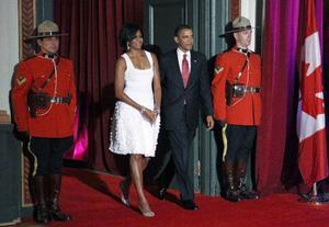 Presidentparet Michelle och Barack Obama från USA stod förstås i centrum även under G20-mötet. USA varnar på goda grunder för en snabb återgång till sparpolitik.