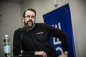 Anders Fröjd, lagledare för Lejonen. Foto: Marc Femenia / TT /