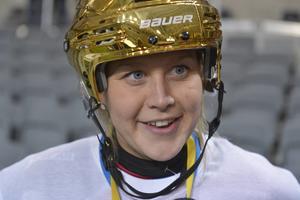 Linnea Gunnarsson efter Karebys SM-guld 2015.