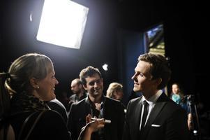 David Lindgren när de första två startfälten till Melodifestivalen 2012 presenterades av SVT.