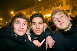 Ronn Popov, Gabriel Somi och Igor Coric.