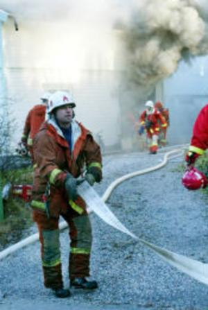 Villan på Flodbergsgatan totalförstördes invändigt vid branden.