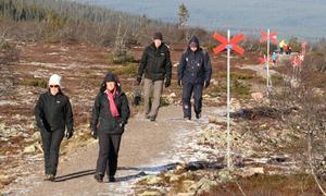 Vandrare på kungsledens sydligaste del mellan Östfjällsstugan och Högfjällshotellet i Sälen 6/11 2010.