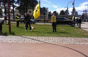Nazistiska Svenskarnas parti upprörde de andra partierna på marknaden.