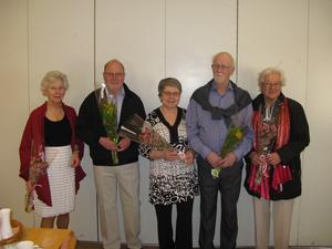 Mannekängerna på bilden är, från vänster: Astrid Johansson, Matti Wigelsbo, Gun Eriksson, Lennart Johansson och Marianne Johansson. Bild: Nils Eriksson