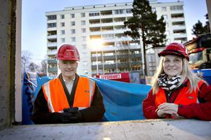 Stefan Lundqvist, VD i Sandvikenhus och Lena Åman, ordförande i SH.