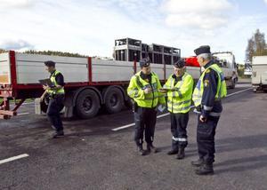30-talet poliser från Gävleborg, Västernorrland, Dalarna och Jämtland har varit engagerade i den stora trafikkontrollen.