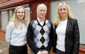 Jenny Glumoff, Johan Persson och Katrin Carlsson i ledningen för Sandvikenhus hoppas att hyresgästerna blir nöjda med den kommande rusten.