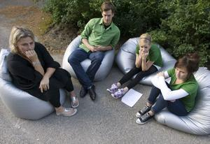 Silje Fredriksson, Jacob Larsson, Emma Söderberg och Isabel Brink.