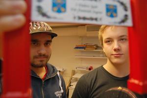 Joel Grahn och Dag Björkqvist designade om målportalen till ett modernare snitt för att bland annat få den åldriga texten
