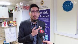 Yasri Khan, ordförande för Svenska muslimer för fred och rättvisa. Faksimil från TV4 play