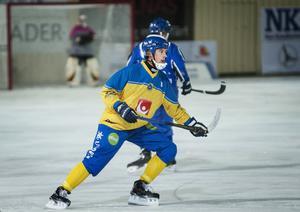 Anders Spinnars när Sverige slog Finland med 10–3 på hans gamla hemmaarena Sävstaås.