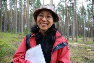 Konsthistoriker Kazuko Ono är intresserad av Rättviks kommuns ekologiska projekt, Omställning Rättvik och vill också lära människor med om Japansk kultur, matlagning och hon jobbar även med japansk guidning runt Siljan.
