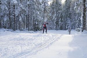 Massor av snö på Granbergstoppen.