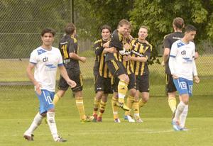 Det blev 7–0 till Korsnäs i matchen mot Forssa. Alla mål gjordes i andra halvleken.