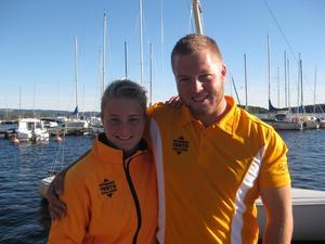 Fredrik Olsson och Viktoria Lindqvist vann finalen i Dala Cup. Nu siktar de på havskappsegling. Foto: MIKAEL LINDELL