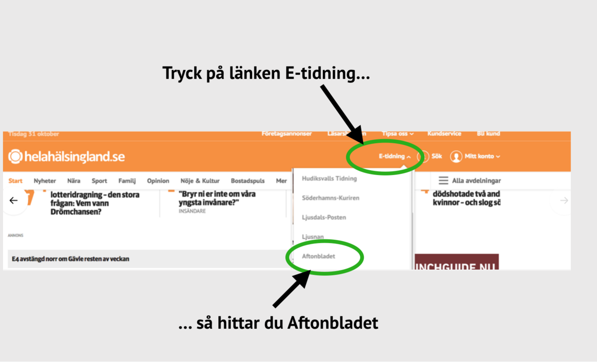 För Våra Kunder Aftonbladets E Tidning På Köpet