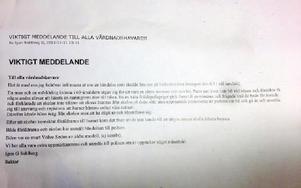 Nyhedsskolans rektor har skickat ut den här varningen till föräldrar vars barn går på F-5-skolan i Rättvik. Foto: Nyhedsskolan Rättvik
