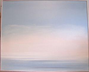Johannesnatten, alltså midsommarnatten, heter denna stora oljemålning av Elsie Tapper, gjord omkring 2000.