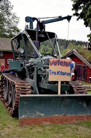Skogsmaskin. Sveriges första serietillverkade skogsmaskin BM Bamse från 1957 visades i dag.